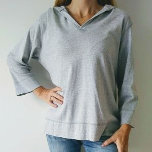 Catalina Gray Hooded Top